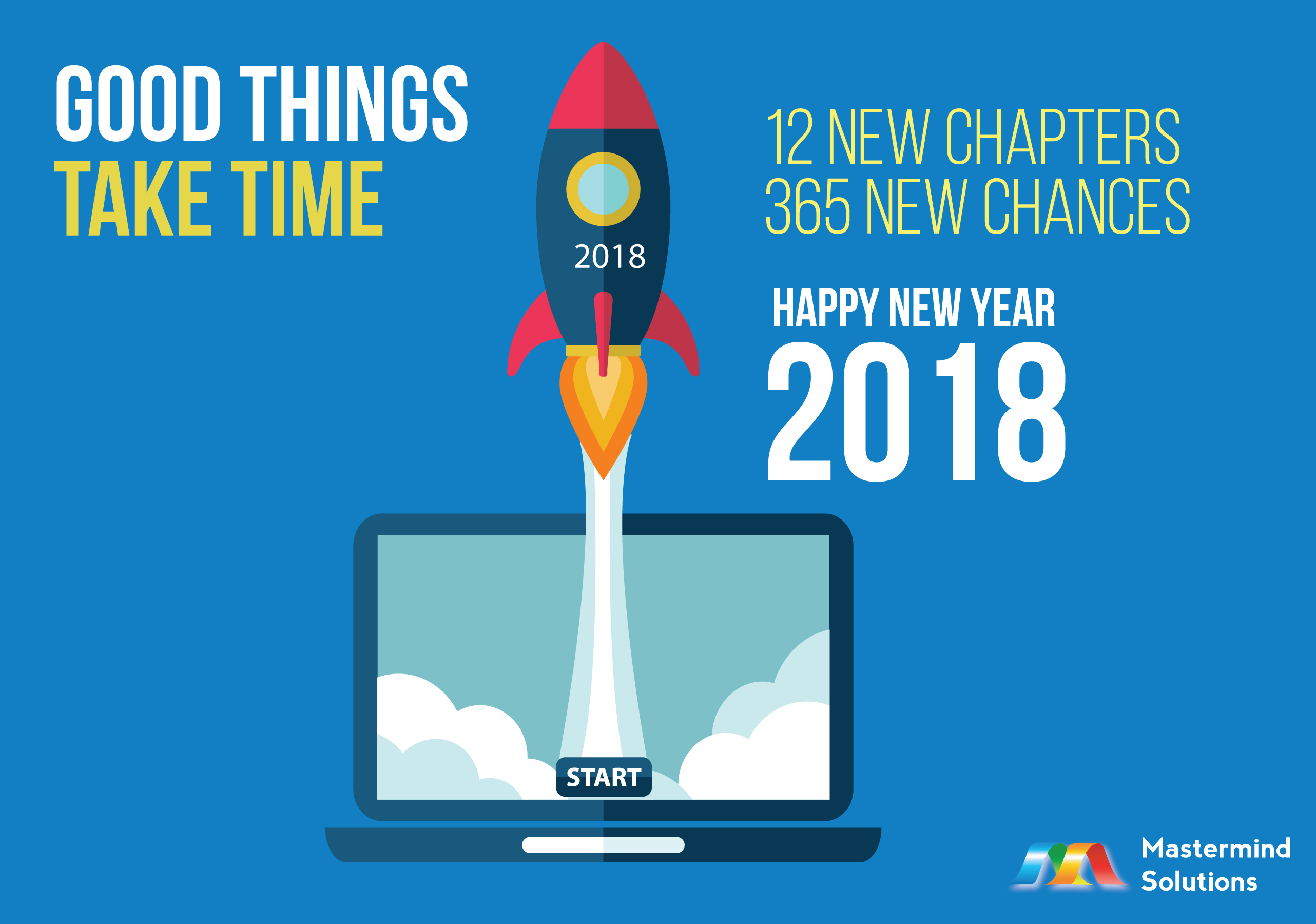12 New Chapters, 365 New Chances, Happy New Year 2018.