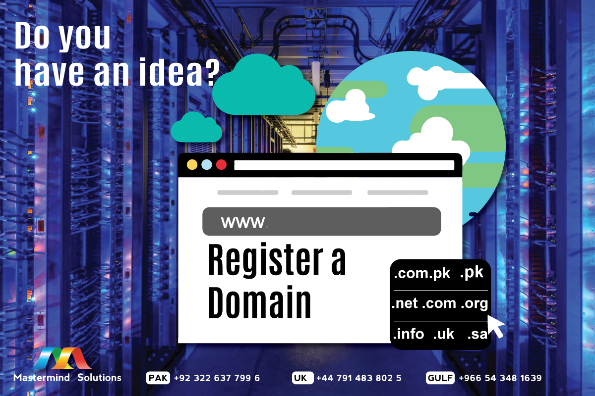 You have an idea, We have a solution. Register your domain with Mastermind Solutions.