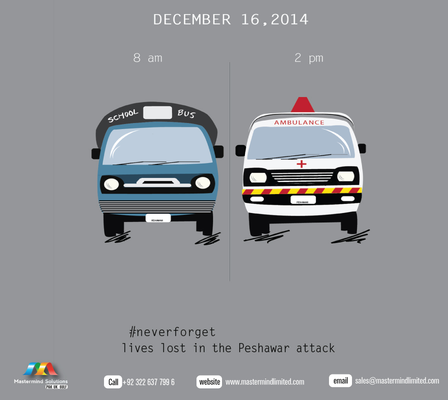 Never forget the lives lost in the Peshawar Attack!