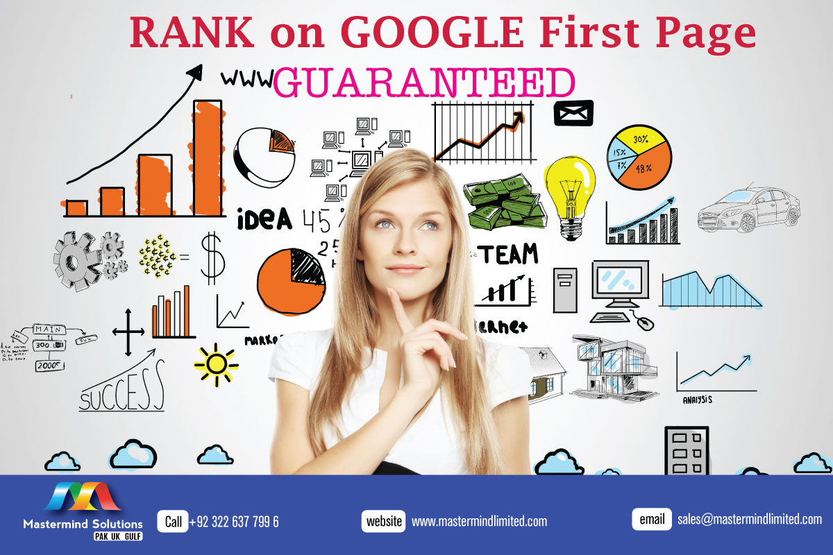 Rank on google first page guaranteed with #mastermindsolution!